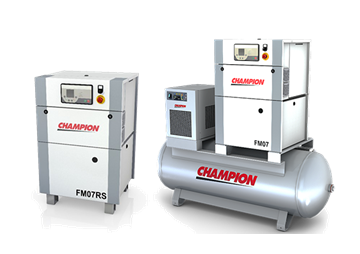 Champion stationary rotary screw air compressors 2 2 - 7 5 kW